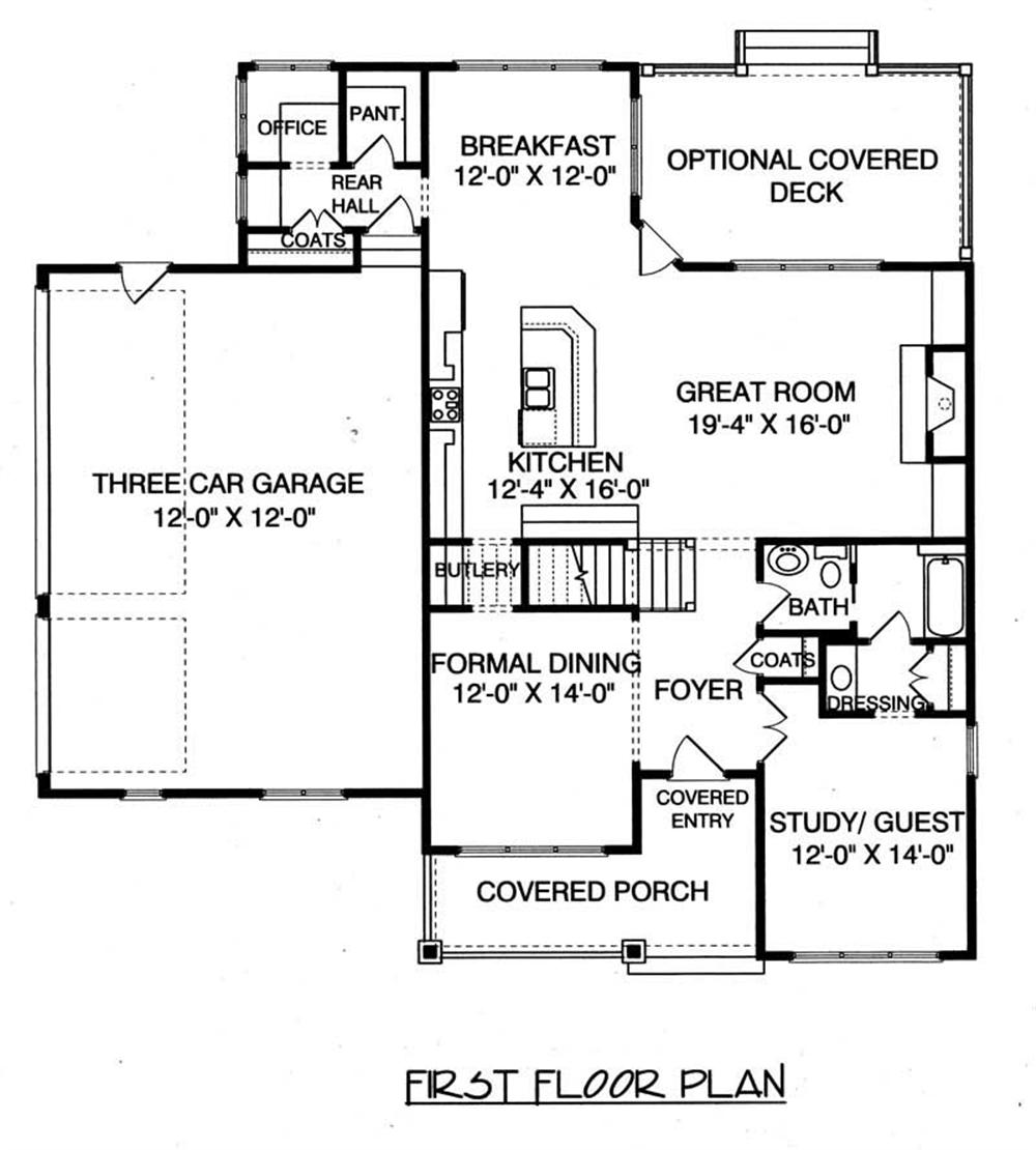 House Plan EDG-2477 Main Floor Plan