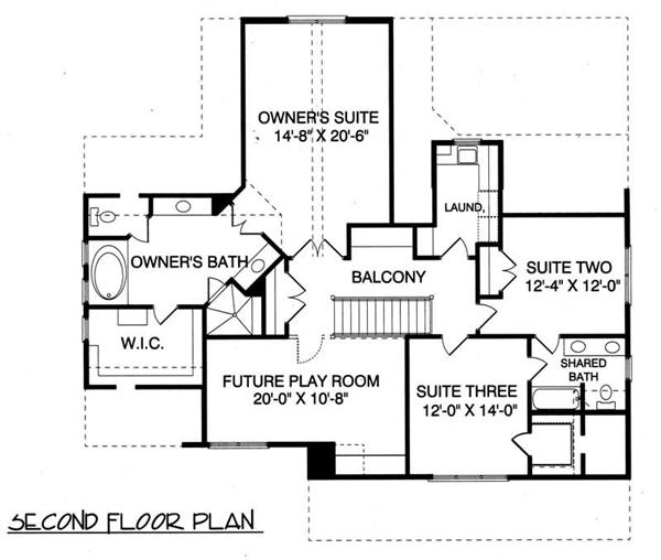 House Plan EDG-2477 Second Floor Plan