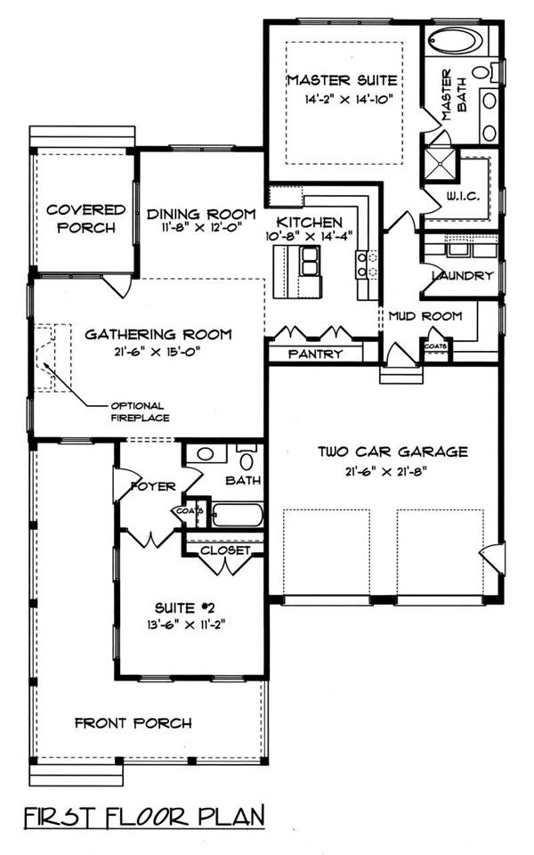 House Plan EDG-1539-A3 Main Floor Plan