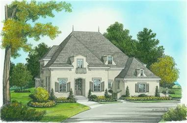 5-Bedroom, 3798 Sq Ft Country House Plan - 127-1002 - Front Exterior