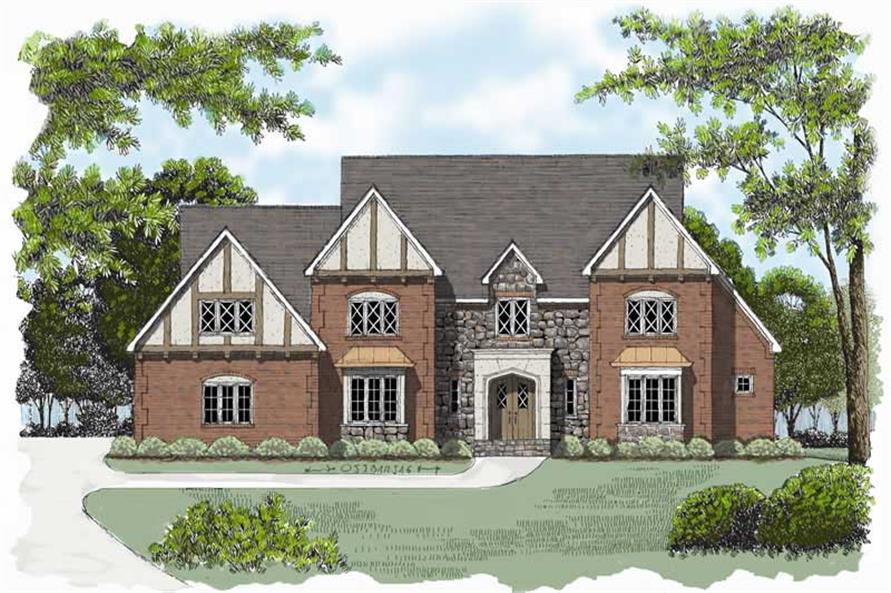 4-Bedroom, 4690 Sq Ft European Home Plan - 127-1004 - Main Exterior