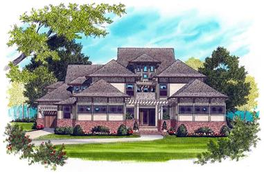 5-Bedroom, 5185 Sq Ft Craftsman House Plan - 127-1005 - Front Exterior