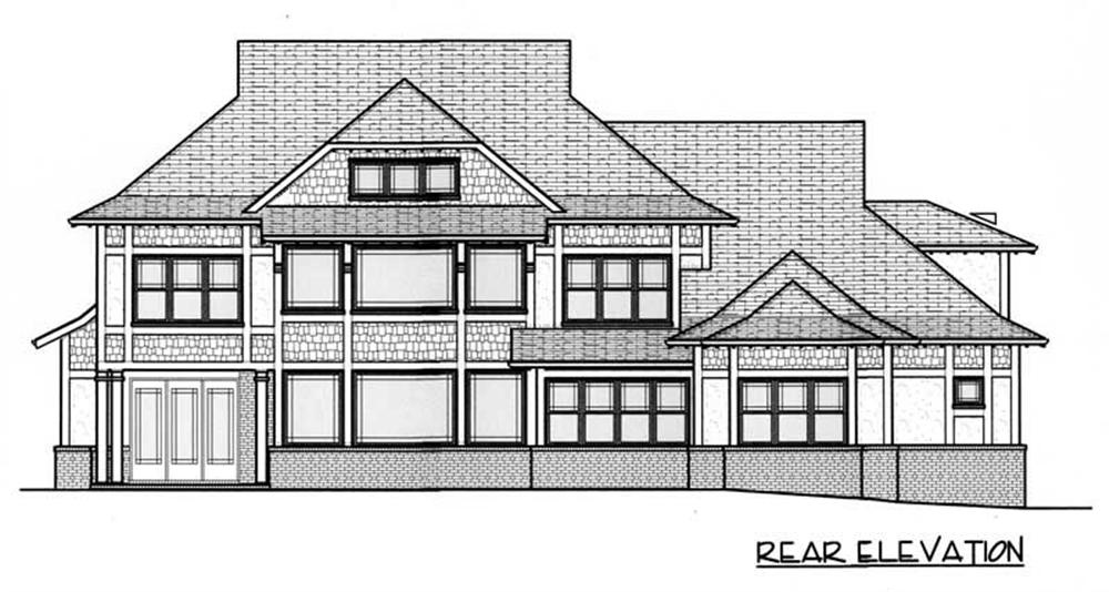 House Plan EDG-5185 Rear Elevation