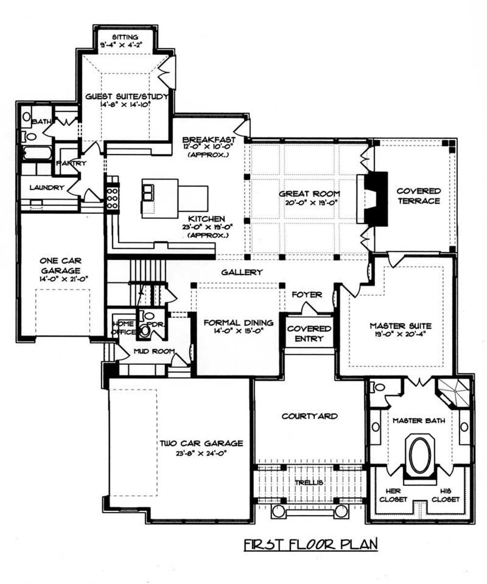 House Plan EDG-5185 Main Floor Plan