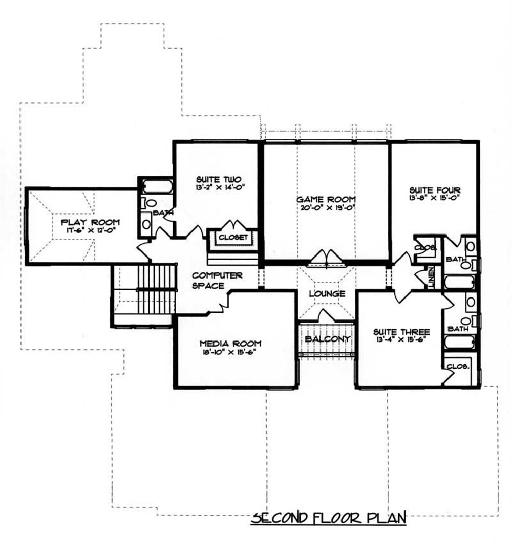 House Plan EDG-5185 Second Floor Plan
