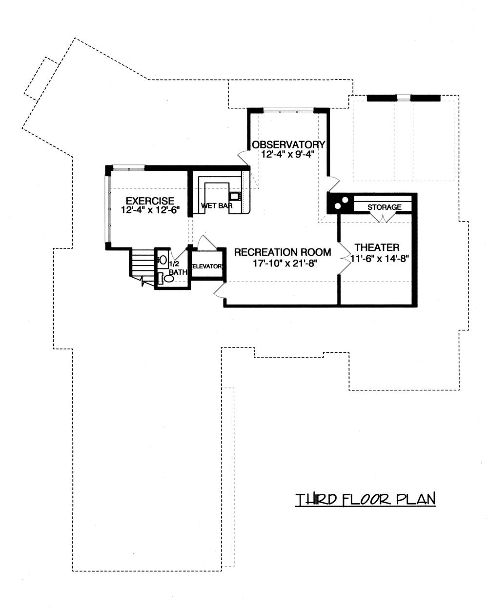 Floor Plan Third Story for these house plans.