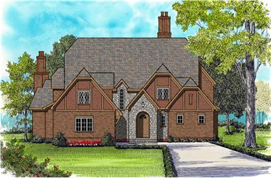 4-Bedroom, 5216 Sq Ft European House Plan - 127-1007 - Front Exterior