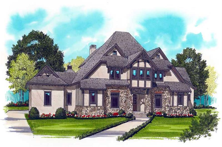 4-Bedroom, 4334 Sq Ft Craftsman Home Plan - 127-1010 - Main Exterior