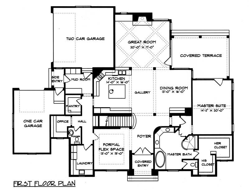 House Plan EDG-4334 Main Floor Plan