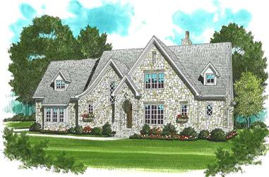 4-Bedroom, 3795 Sq Ft Country House Plan - 127-1013 - Front Exterior