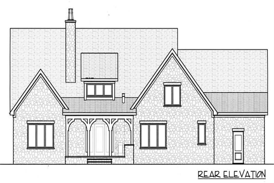 Home Plan Rear Elevation of this 4-Bedroom,3795 Sq Ft Plan -127-1013