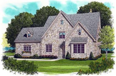 4-Bedroom, 3654 Sq Ft European House Plan - 127-1014 - Front Exterior