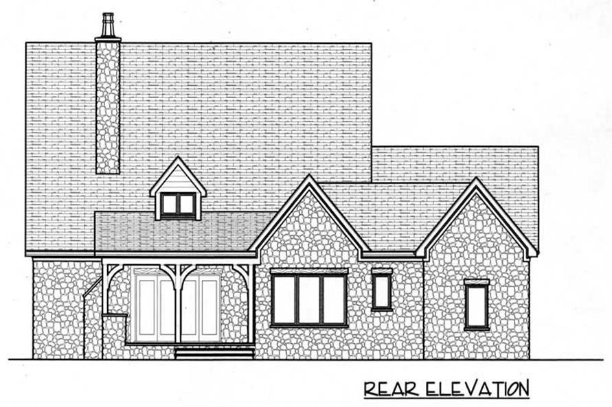 Home Plan Rear Elevation of this 4-Bedroom,3654 Sq Ft Plan -127-1014