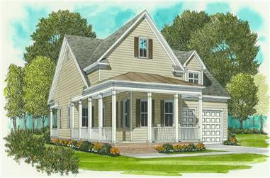 2-Bedroom, 1539 Sq Ft House Plan - 127-1015 - Front Exterior