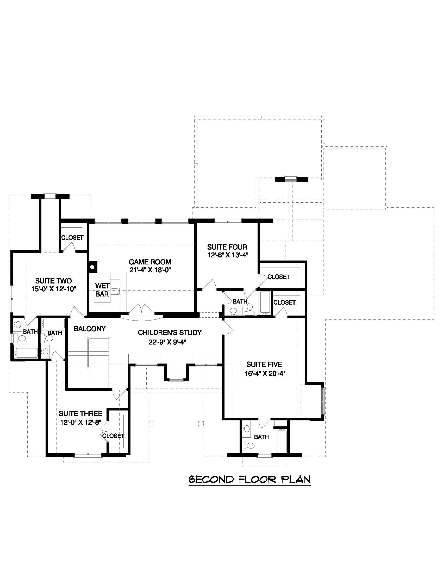 Floor Plan Second Story for these European house plans.