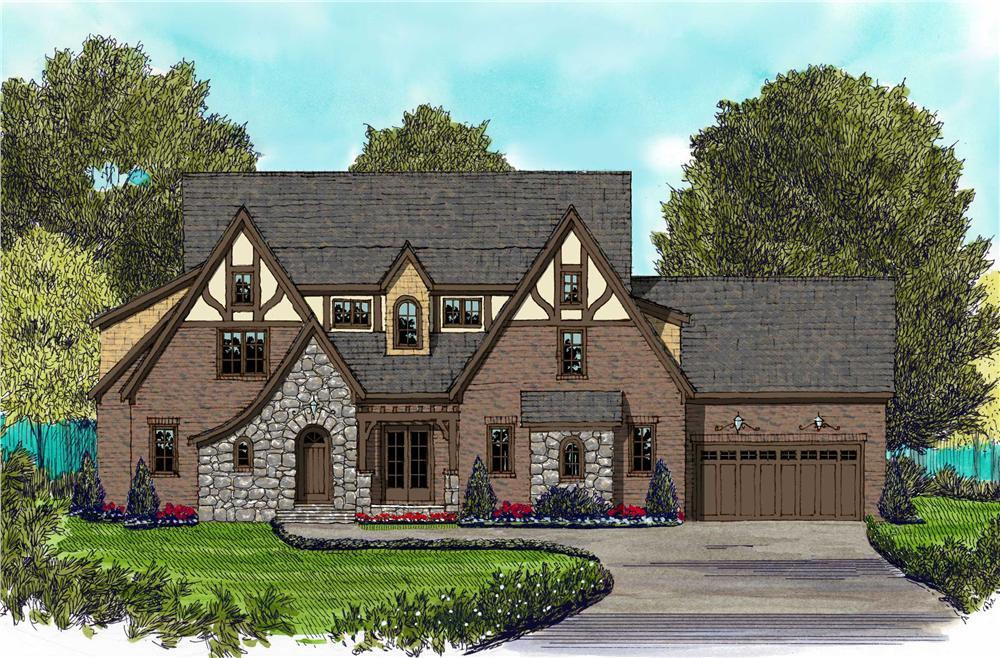Home Plans color front elevation.