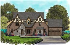 Home Plans color front elevation.