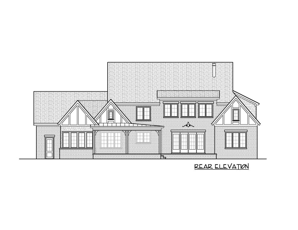 Home Plan Rear Elevation for these home plans.