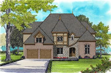 4-Bedroom, 3803 Sq Ft French Home Plan - 127-1017 - Main Exterior