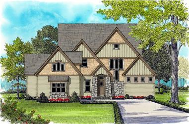 4-Bedroom, 3866 Sq Ft Craftsman Home Plan - 127-1019 - Main Exterior