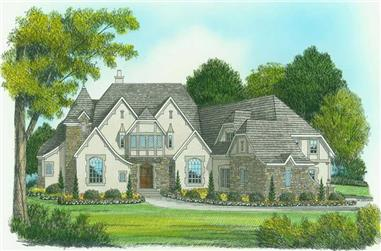 5-Bedroom, 6275 Sq Ft Country House Plan - 127-1020 - Front Exterior