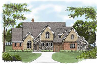 4-Bedroom, 3798 Sq Ft Country House Plan - 127-1021 - Front Exterior