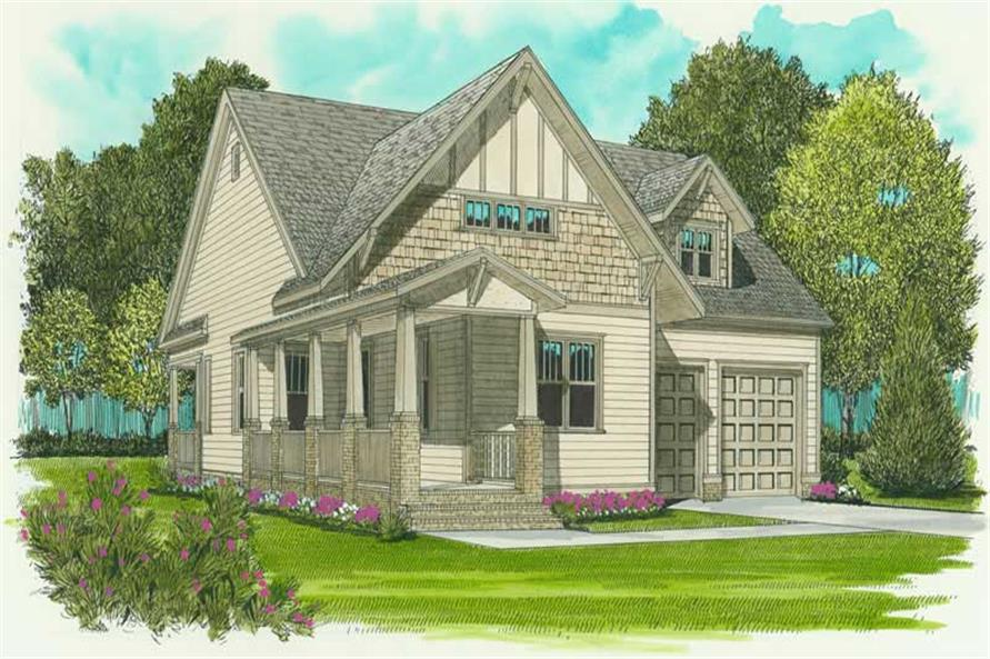 2-Bedroom, 1958 Sq Ft Craftsman Home Plan - 127-1022 - Main Exterior