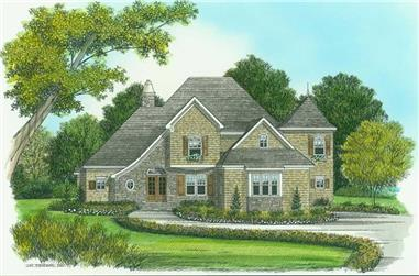 5-Bedroom, 3011 Sq Ft Country House Plan - 127-1023 - Front Exterior