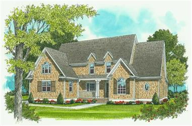 4-Bedroom, 3682 Sq Ft Craftsman Home Plan - 127-1026 - Main Exterior