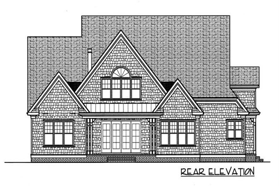 House Plan EDG-3682 Rear Elevation