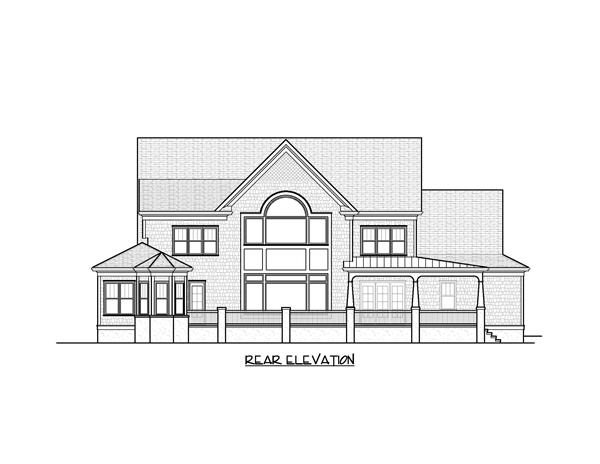 Home Plan Rear Elevation for these houseplans.