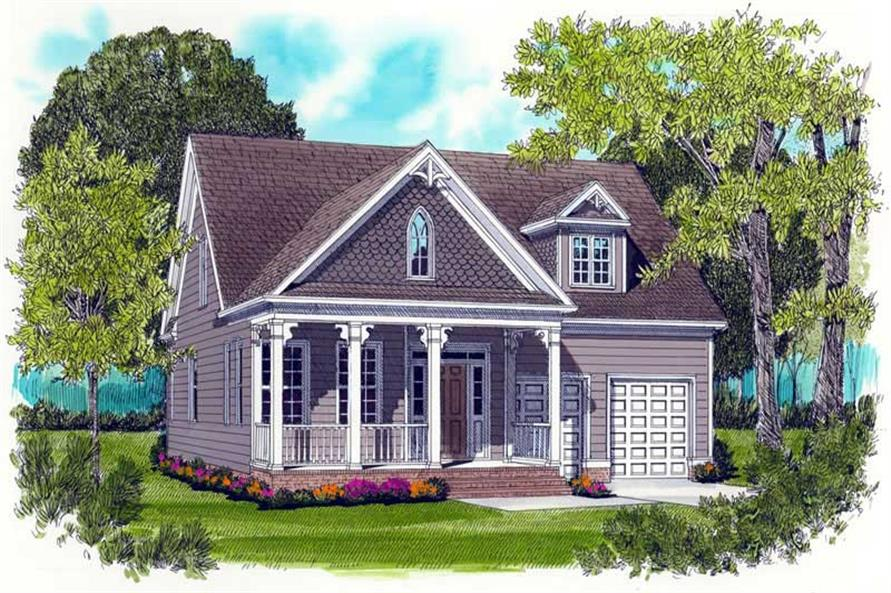 3-Bedroom, 2021 Sq Ft Farmhouse Home Plan - 127-1028 - Main Exterior