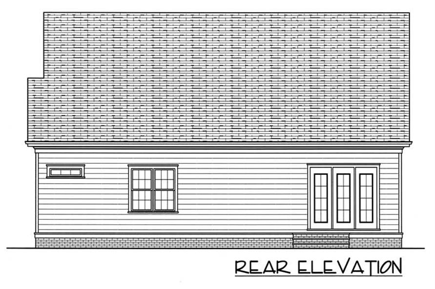 House Plan EDG-2021-C Rear Elevation