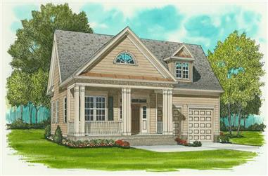 3-Bedroom, 1728 Sq Ft Farmhouse House Plan - 127-1031 - Front Exterior