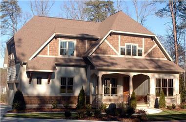 4-Bedroom, 3134 Sq Ft Craftsman House Plan - 127-1032 - Front Exterior