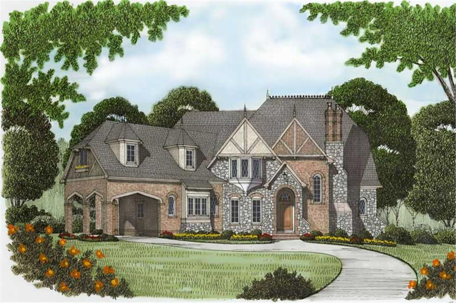Front Elevation of this 4-Bedroom,5796 Sq Ft Plan -5796