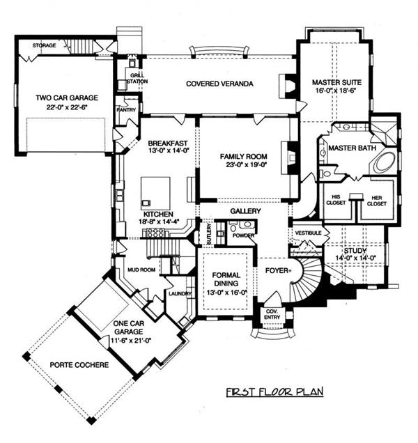 House Plan EDG-5796 Main Floor Plan