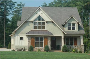 4-Bedroom, 3430 Sq Ft Craftsman Home Plan - 127-1035 - Main Exterior