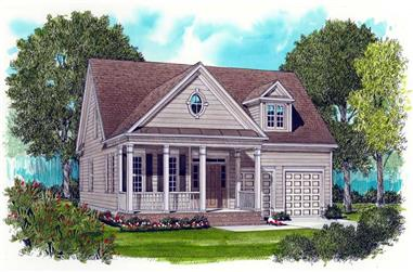 3-Bedroom, 2021 Sq Ft Farmhouse House Plan - 127-1037 - Front Exterior