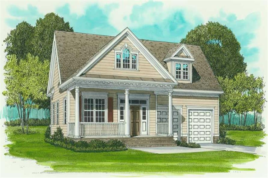 3-Bedroom, 1728 Sq Ft Farmhouse House Plan - 127-1038 - Front Exterior