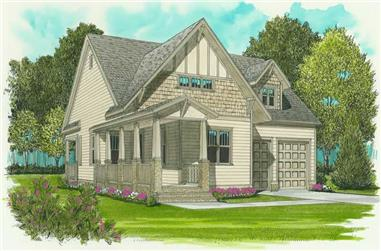 2-Bedroom, 1539 Sq Ft Craftsman House Plan - 127-1041 - Front Exterior
