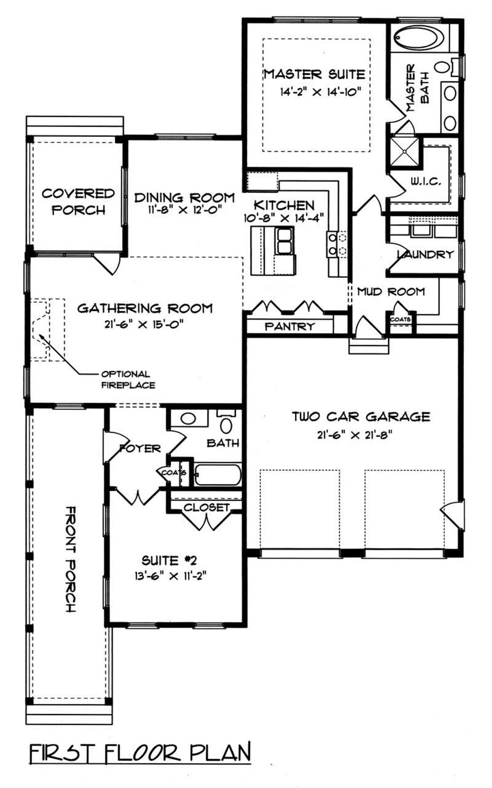 House Plan EDG-1539-A2 Main Floor Plan