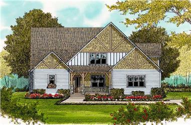 4-Bedroom, 2744 Sq Ft Craftsman Home Plan - 127-1042 - Main Exterior