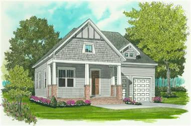 3-Bedroom, 1728 Sq Ft Craftsman House Plan - 127-1043 - Front Exterior
