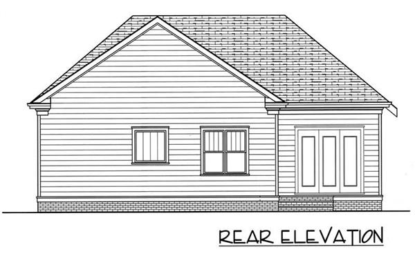 House Plan EDG-1728-B2 Rear Elevation