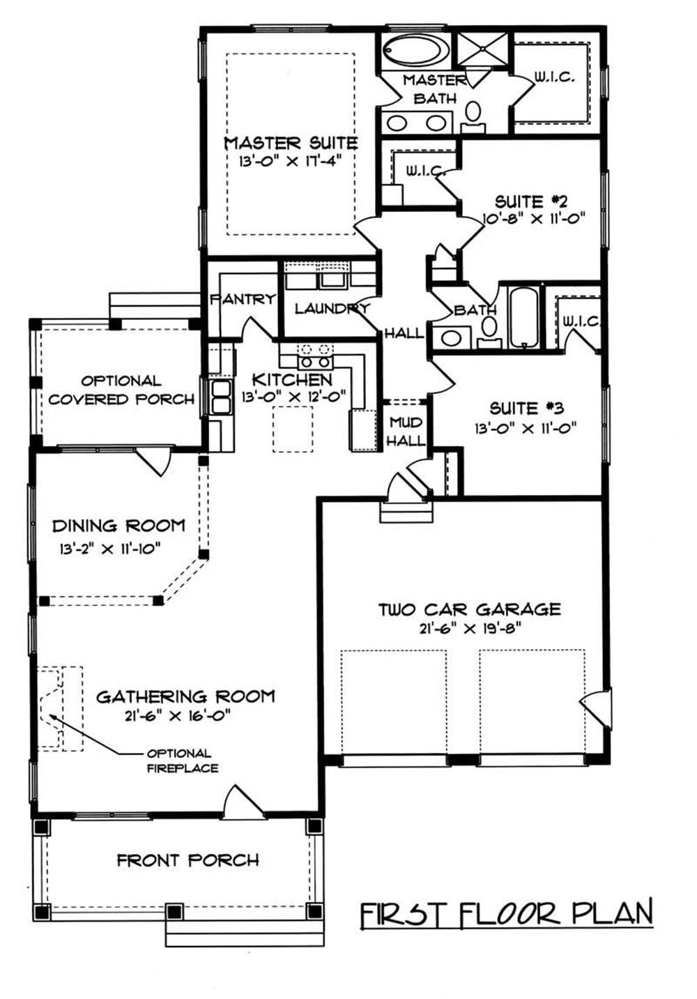 House Plan EDG-1728-B2 Main Floor Plan
