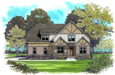 4-Bedroom, 2877 Sq Ft Craftsman Home Plan - 127-1046 - Main Exterior