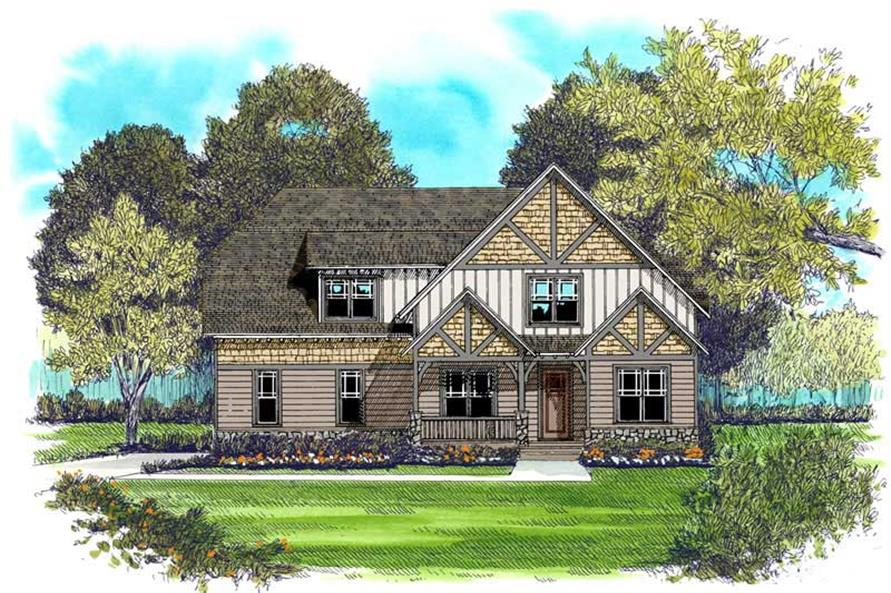 4-Bedroom, 2877 Sq Ft Craftsman Home Plan - 127-1046 - Main Exterior