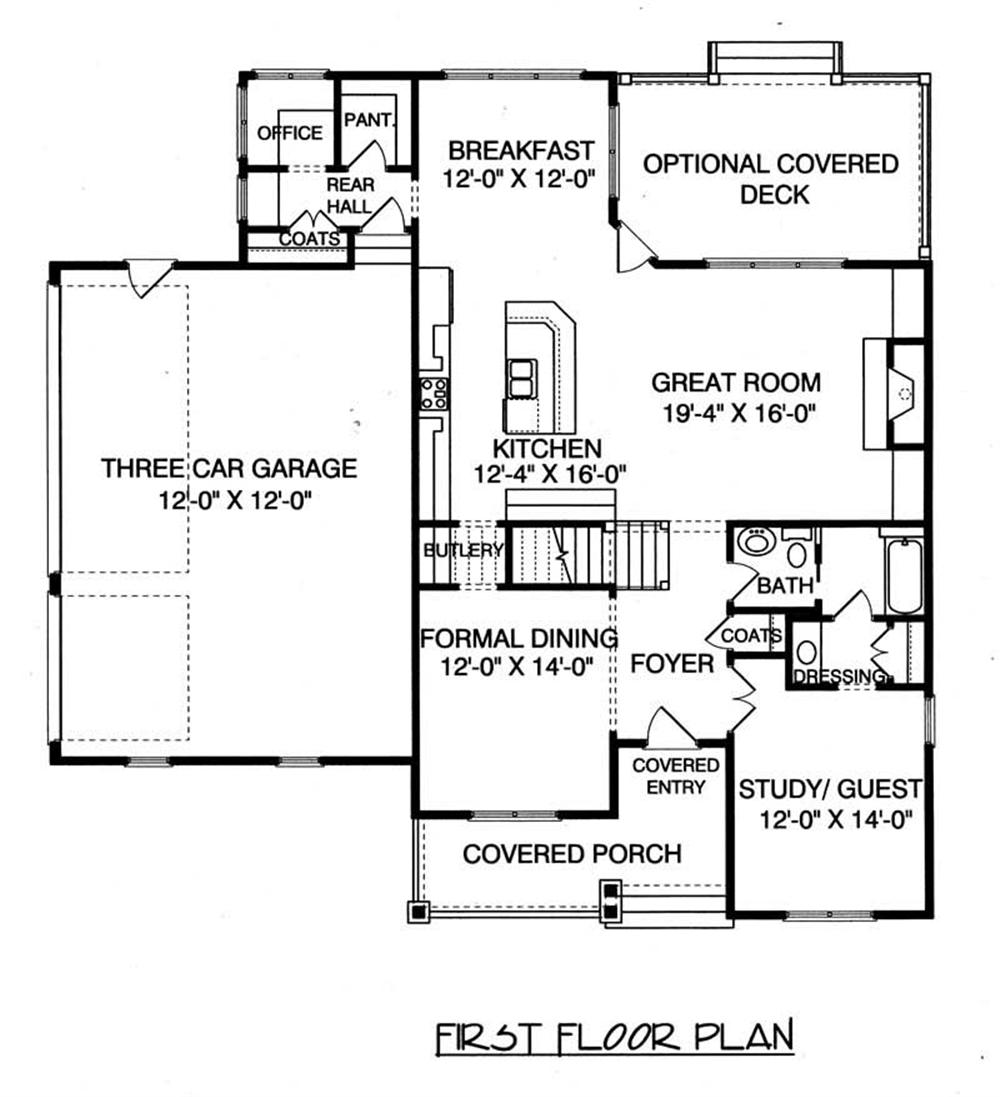 Large Images For House Plan 127 1046
