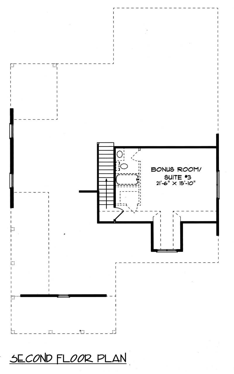House Plan EDG-1958-A3 Second Floor Plan